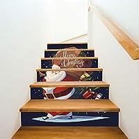 Pegatinas De Escaleras Navidad Vestir Escaleras Regalos De Santa Claus Escaleras Decorativas Pegatinas De Pared (100cm*18cm)13pcs: Amazon.es: Bricolaje y herramientas