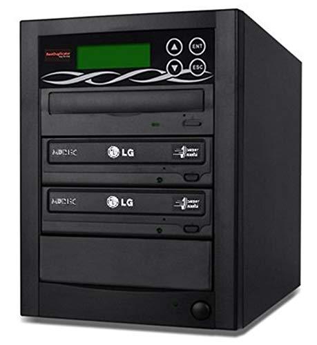BestDuplicator 2 Target (1 to 2) 24X SATA DVD Duplicator Built-in LG Burner DVD Burner (128MB Buffer) + Free Nero 10 Multimedia Suite Essentials CD/DVD Burner Software - Professional DVD CD Duplication Copier Machine by BestDuplicator