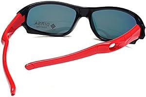 Sports Style Polarized Sunglasses Rubber Flexible Frame UV400 For Boys Girls black SK-S816
