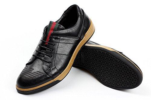 Hombre Zapatos Casual Con Cordones elegante formal trabajo oficina Italiano Moderno Vestido Negro