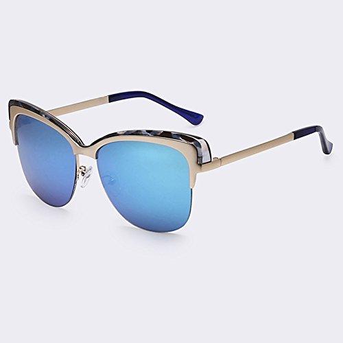 sol de sol TIANLIANG04 de sombras del Marco de Gafas Gafas de C06 Senza UV400 vintage Semi C01 qwEE1rTX5