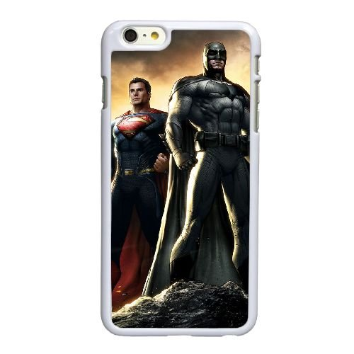 L4D84 Superman vs Batman I8R5EF coque iPhone 6 Plus de 5,5 pouces cas de couverture de téléphone portable coque blanche SF8ITY3VP