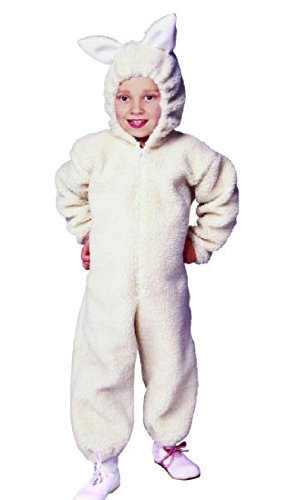 [OvedcRay Ba Ba Lamb Sheep Child Costume Farm Zoo Animal Kids Jumpsuit Costumes] (Lamb Costume Makeup)