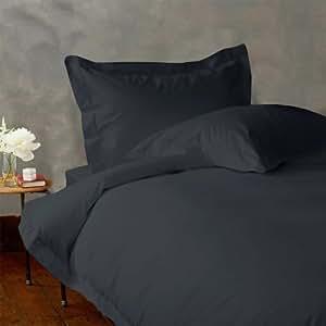 Lacasa Bedding Ultra Soft 100 Percent Egyptian Cotton Duvet Cover 300 TC Solid ( Twin XL , Elephant Grey )