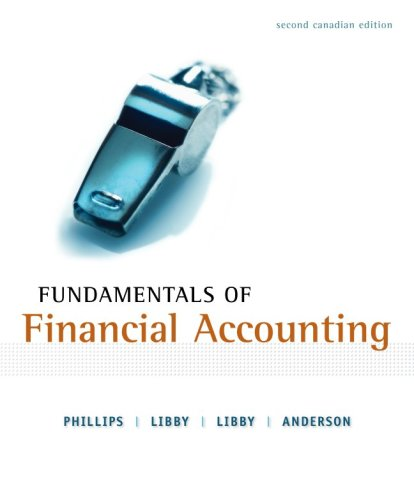 Fundamentals of Financial Accounting, Second CDN Edition