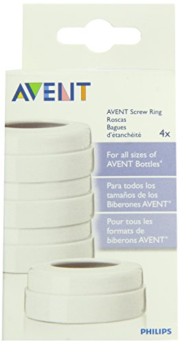 - Philips AVENT BPA Free Classic Bottle Screw Rings, 4-Pack