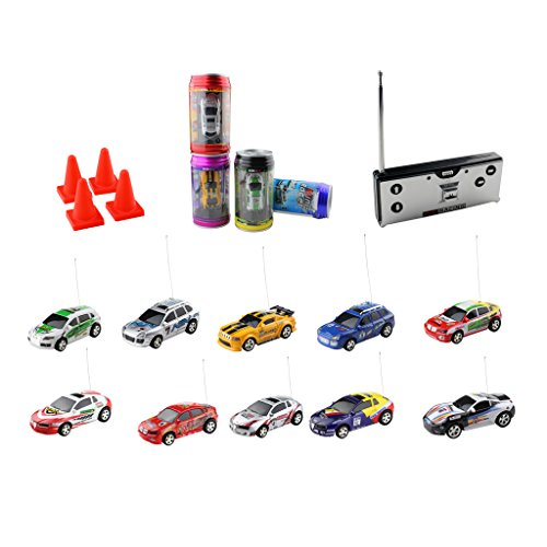 Racers Cars Rc - iKKEGOL Mini Coke Can RC Radio Remote Controlled Micro Racing Car Toy Vehicles Random Gift