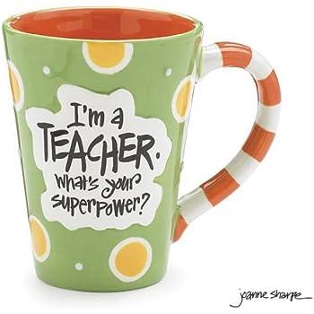 I'm A Teacher, What's Your Super Power? Teacher 12 oz Coffee Mug