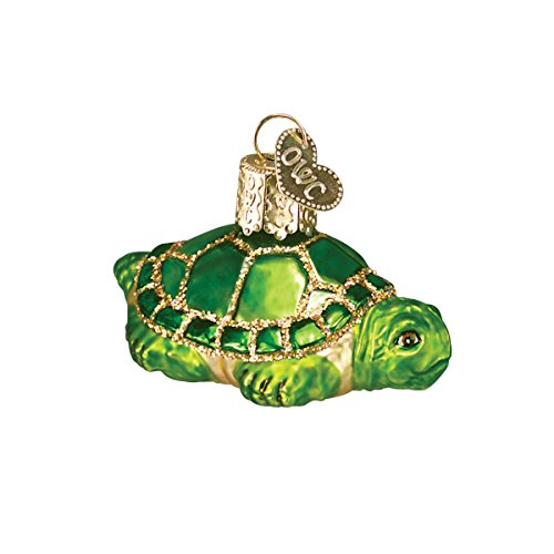 Old World Christmas Small Turtle Glass Blown Ornament