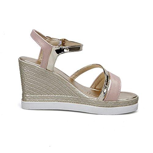 1TO9 Womens Charms Wedges Platform Assorted?Color Urethane Platforms Sandals MJS02578 Pink dOvBOed
