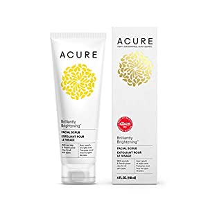 Acure Brilliantly Brightening Facial Scrub, 4 Ounces (Packaging May Vary)