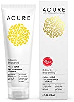 Acure Brilliantly Brightening Facial Scrub, 4 Ounces (Packaging