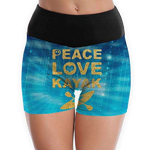 Peace Love Kayak Women's Yoga Shorts Pants Running Shorts Slim Fit
