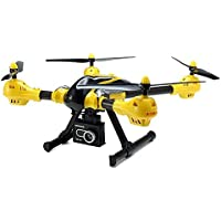Kai Deng K70C With 2MP Wide Angle HD Camera Gimbal 3D Rolling RC Quadcopter yellow color By Kaideng