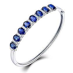 Diamond Sapphire Bracelet For Women