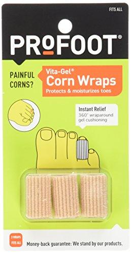 Gel Corn (Profoot Care Vita-gel Corn Wraps, Natural (Pack of 4))