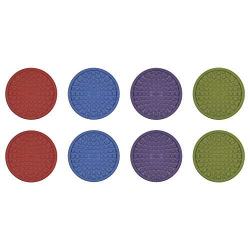 OXO Good Grips Coasters, Red, Purple, Green and Blue, Set of 8 ()