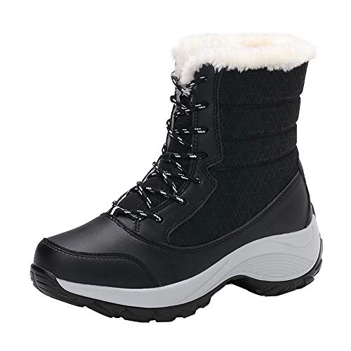 men's Winter Back Lace up Boot Snow Boots Non-Slip Waterproof Boots ()