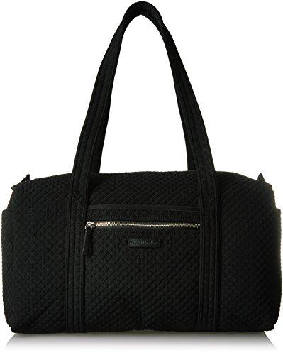 Vera Bradley Women's Microfiber Small Duffel Travel Bag, Classic Black, One Size (Paisley Weekender Bag)