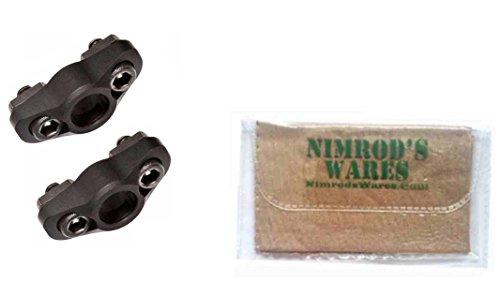 Nimrod's Wares 2-Pack MAGPUL M-LOK Quick Detach (QD) Sling Mounts MAG606 Microfiber Cloth by Nimrod's Wares