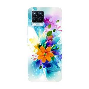 "TRUEMAGNET Premium ""'Amazing Flowers""' Printed Hard Mobile Back Cover for Realme 8 / Realme 8 Pro, Designer…"