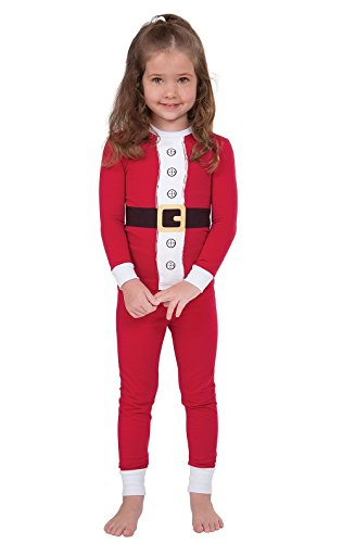 t Pajamas for Christmas with Long-Sleeved Top, Red, 5T ()