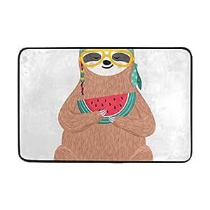 Amazon Com Hetris Door Mat Personalized Hipster Sloth