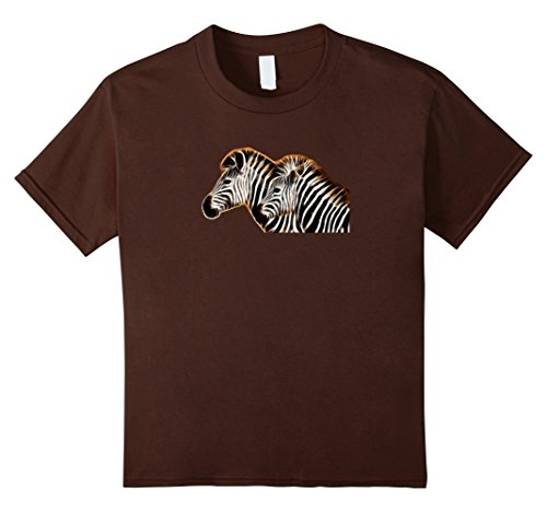 Kids Two Zebra Heads Are Better Than One Artsy T-shirt 10 Brown