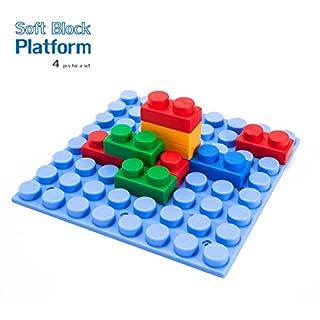 UNiPLAY Soft Building Block Base - Non-Toxic & BPA-Free - 4-Piece Set