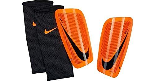 Shin Guards Roller - Nike Mercurial Lite Shin Guard (Orange/Black) (Medium)