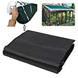 Black Protective Awning Cover Storage Bag with String for Outdoor Garden Sun Protection Waterproof Rain Snow (4m / 13.12ft)