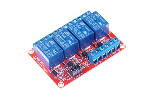 KNACRO 4-Channel Relay Module DC 24V with Optocoupler isolation H/L high/low Level Triger for Arduino