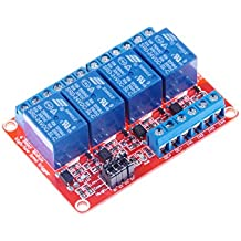 KNACRO 4-Channel Relay Module DC 24V with Optocoupler isolation H / L high / low Level Triger for Arduino
