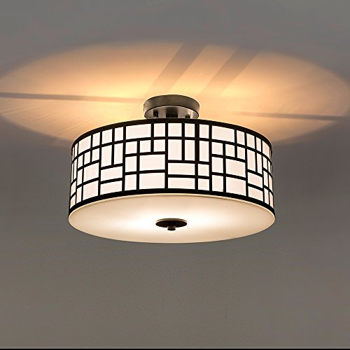 c35673ee4cd SOTTAE 2 Lights Oil Rubbed Bronze Finished Outdoor Indoor Metal Hanging Fixture  Lighting Flush Mount