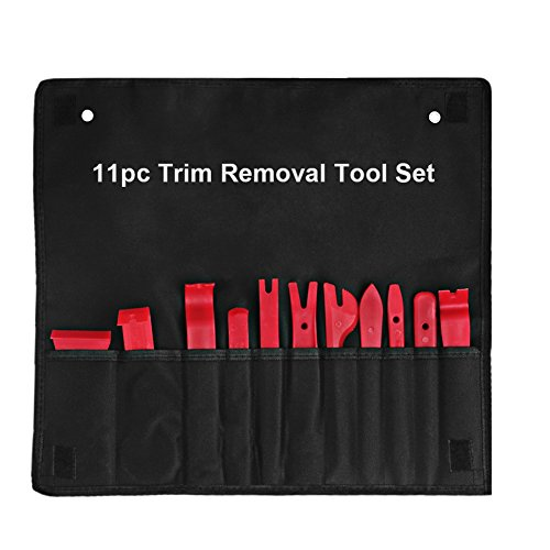 Auto Body Panel - VANJING 11Pcs Auto Trim and Panel Removal Tool Set Body Door Window Molding Upholstery Fastener Clips Removal Tool Kit with Storage Bag Strong Nylon Material