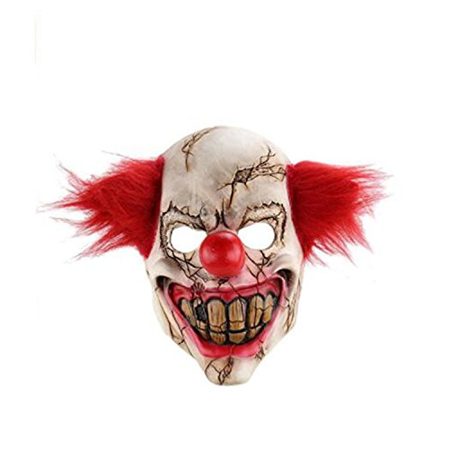 Halloween Horrific Demon Adult Scary Clown Masks Devil Red Flame Clown Zombie Cosplay Props  (Red Flame Clown Zombie (Halloween Ideas With Normal Clothes)