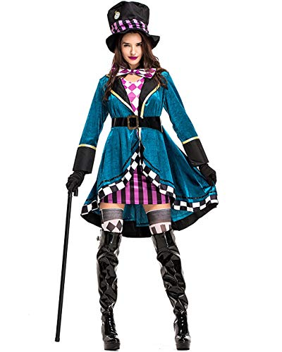 Halloween Costume Lady's Magician Uniform Stage Show Circus Animal Trainer Fansy Dress (US 8-10) -