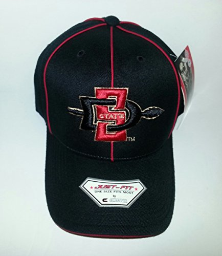 San Diego State University Aztecs 3D Embroidered Hat Flex Fit Fitted Cap OSFM - Osfm Flex Cap