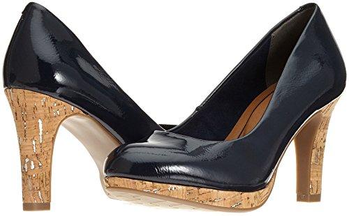 Para Marco 22421 Azul Zapatos De Tozzi Pat navy Tacón Comb Mujer RrqXRx