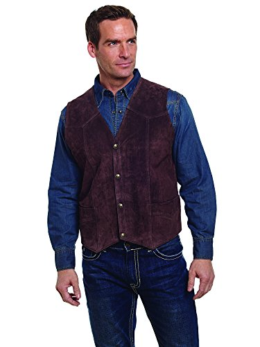 Cripple Creek Men's Suede Leather Vest Chocolate Small
