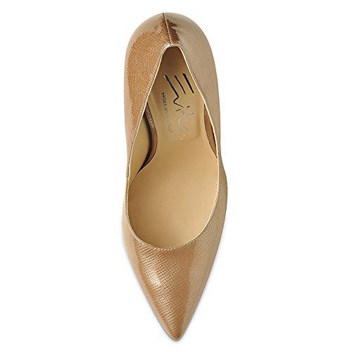 Evita mujer vestir Zapatos para de beige de Piel Beige Shoes rq0TPr