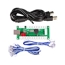 EG Starts Zero Delay USB Encoder To PC Controller 2Pin Joystick Cable + Happ Pusb Buttons Cables for Classic Arcade Happ DIY Kits Parts Mame Games