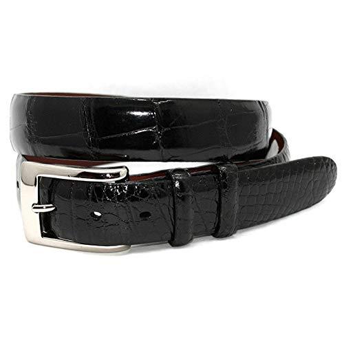 (Torino Leather Genuine American Alligator Belt - Black 40 )
