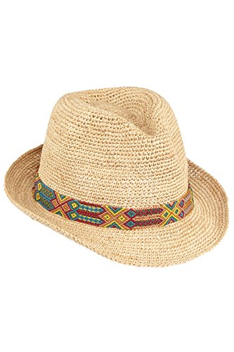 Florabella Women's Raffia Fedora Sun Hat Natural One by Flora Bella