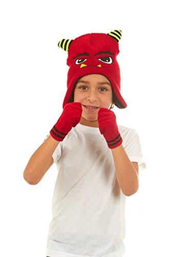 Polar Wear Boys Monster Knit Ear Flap Winter Beanie