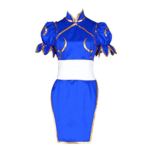 Street Fighter II Cosplay Costume - -Chun-Li 1st Blue Kid Large by Dream2Reality (Image #9)