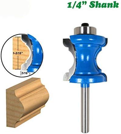 NO LOGO ZZB-ZT, 1PC 1/4 Konkavradius Fräswerkzeuge Convex Spalte Zeile Messer Molding Fräser Fräser for Holz Holzverarbeitung (Size : 1PC 1/4)