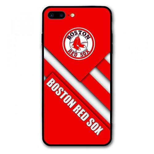HiFee iPhone 8 Plus Case iPhone 7 Plus Case Baseball Team Design Slim and Lightweight Cover Cases (Red-Sox)