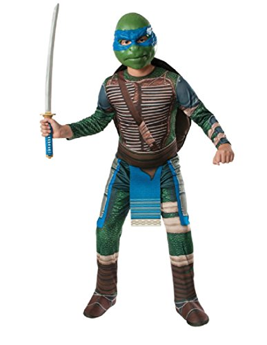 Rubie's Costume Men's Teenage Mutant Ninja Turtles Movie Deluxe Adult Muscle Chest Leonardo, Multicolor, Standard -