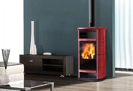 Estufa de leña BIG de aire 9 kW Edilkamin horno de aire caliente: Amazon.es: Bricolaje y herramientas